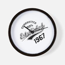 Guaranteed 100% Established 1967 Wall Clock