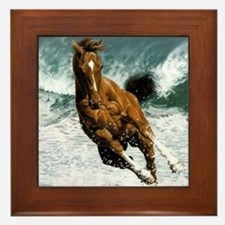 Moring swim Framed Tile