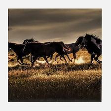 Wild Horses Running Free Tile Coaster