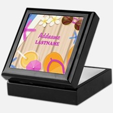 Personalized Summer Girly Keepsake Box
