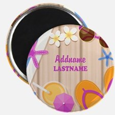 Personalized Summer Girly Magnet