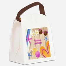 Personalized Summer Girly Canvas Lunch Bag