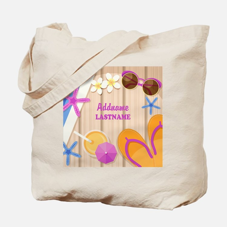 Personalized Summer Girly Tote Bag