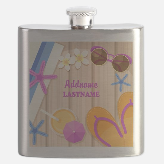 Personalized Summer Girly Flask