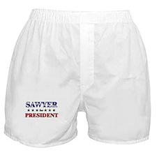 SAWYER for president Boxer Shorts