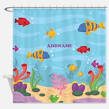 Ocean Aquatic Personalized Shower Curtain