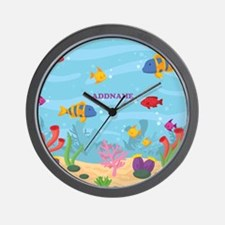 Ocean Aquatic Personalized Wall Clock