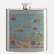 Ocean Aquatic Personalized Flask