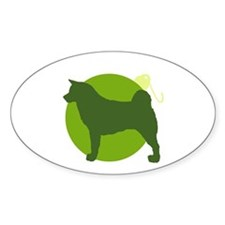 Akita Ornament Oval Decal