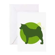 Akita Ornament Greeting Card