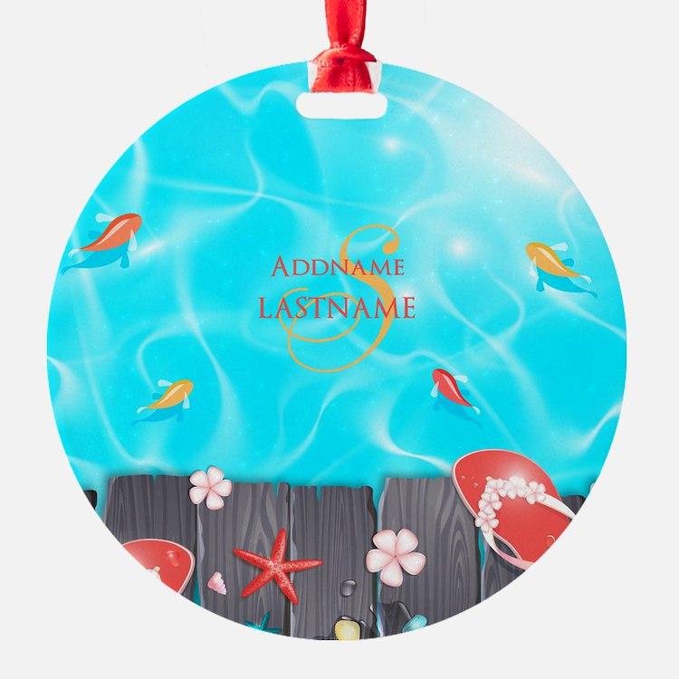 Summer Beach Flip Flops Starfish Pe Ornament