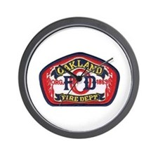 Oakland Fire Dept Wall Clock