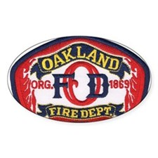 Oakland Fire Dept Oval Decal