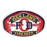 Oakland fire department Stickers & Flair