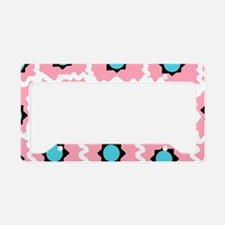 Crazy space orb plaid License Plate Holder