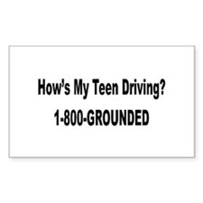 Teen Drivers Rectangle Decal