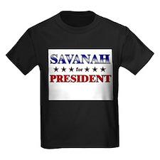 SAVANAH for president T