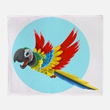 Funny Blue feather vector Throw Blanket
