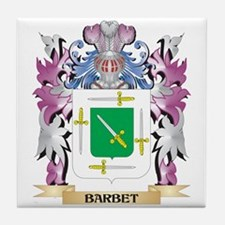 Barbet Coat of Arms (Family Crest) Tile Coaster