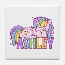 Ashley Unicorn Tile Coaster