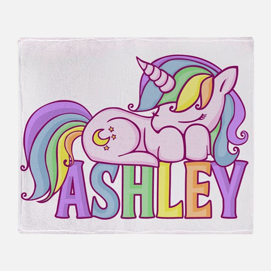 Ashley Unicorn Throw Blanket