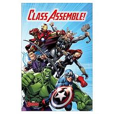 Avengers Class Assemble Wall Art Poster