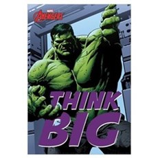 Hulk Think Big Wall Art Framed Print