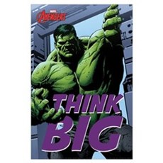 Hulk Think Big Wall Art Poster