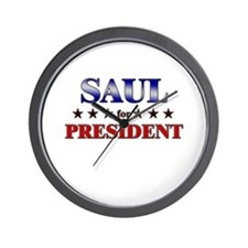 SAUL for president Wall Clock