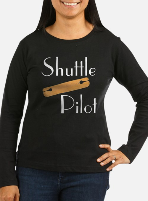 w_shuttle_blk Long Sleeve T-Shirt