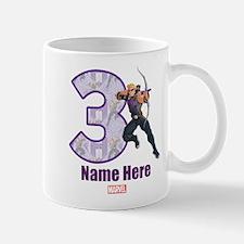 Personalized Hawkeye Age 3 Mug