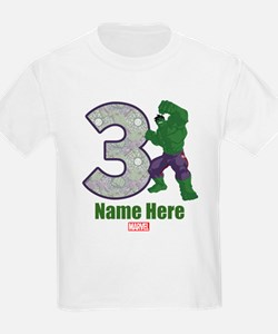 Personalized Hulk Age 3 T-Shirt