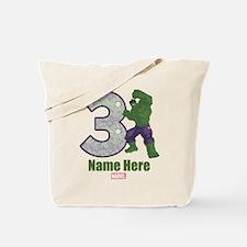Personalized Hulk Age 3 Tote Bag