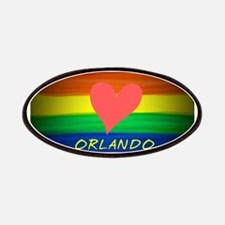 Love Orlando rainbow pride art Patch