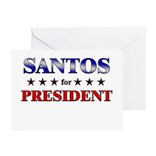 SANTOS for president Greeting Card