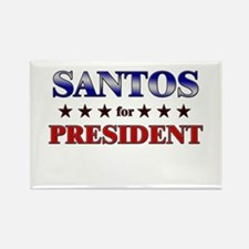 SANTOS for president Rectangle Magnet