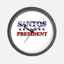 SANTOS for president Wall Clock