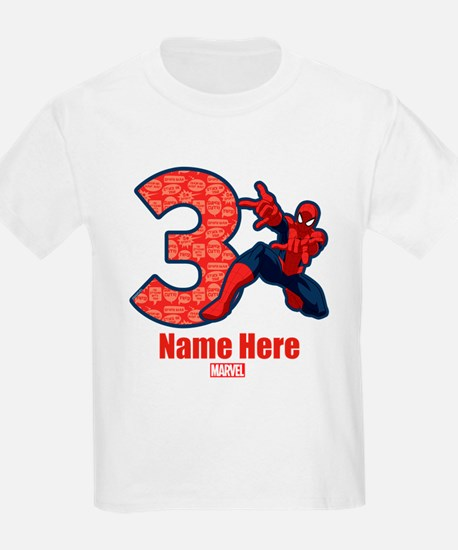 Spider-Man Personalized Birthda T-Shirt