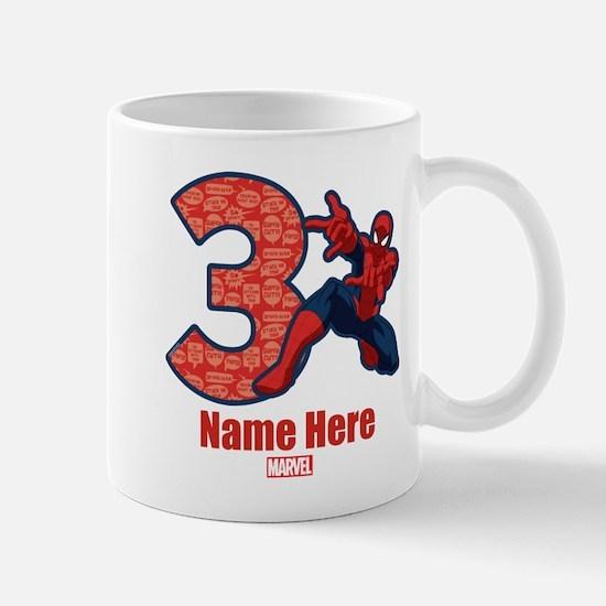 Spider-Man Personalized Birthday 3 Mug