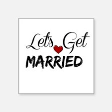 Let's Get Married Sticker