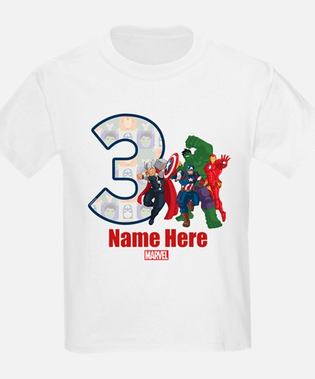 Personalized Avengers Birthday T-Shirt