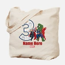 Personalized Avengers Birthday Age 3 Tote Bag
