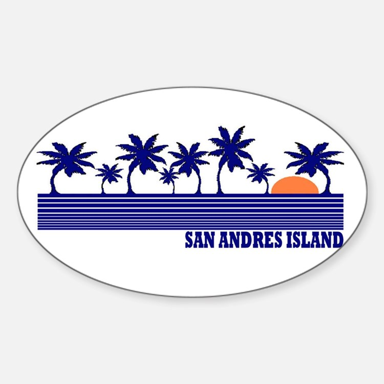 San Andres Island Oval Decal