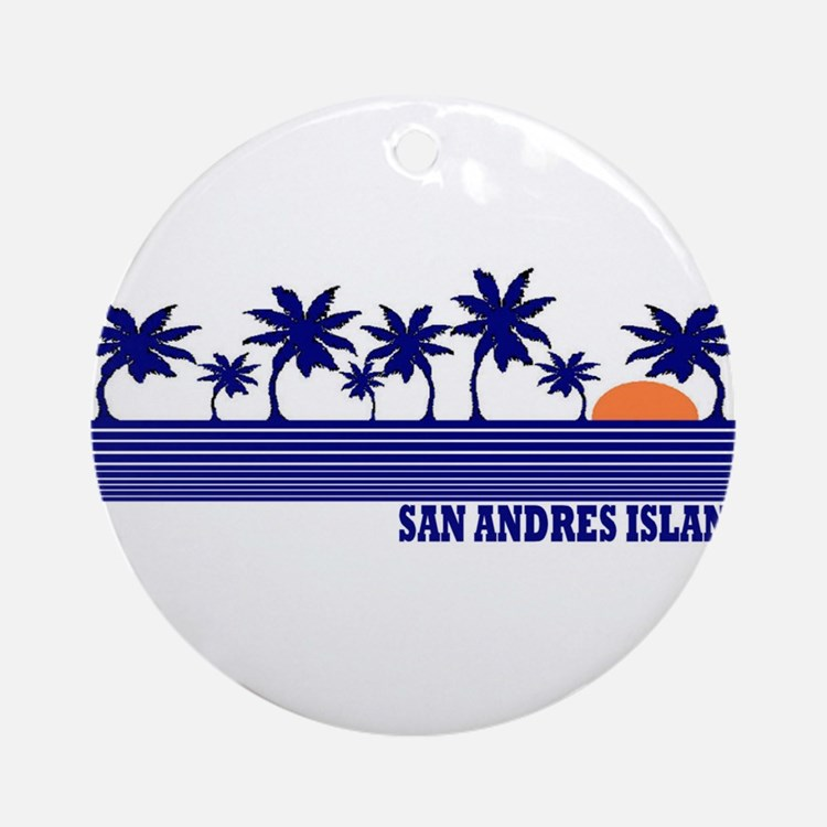San Andres Island Ornament (Round)