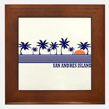 San Andres Island Framed Tile