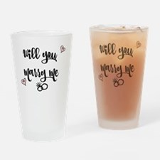 Cute You marry me Drinking Glass