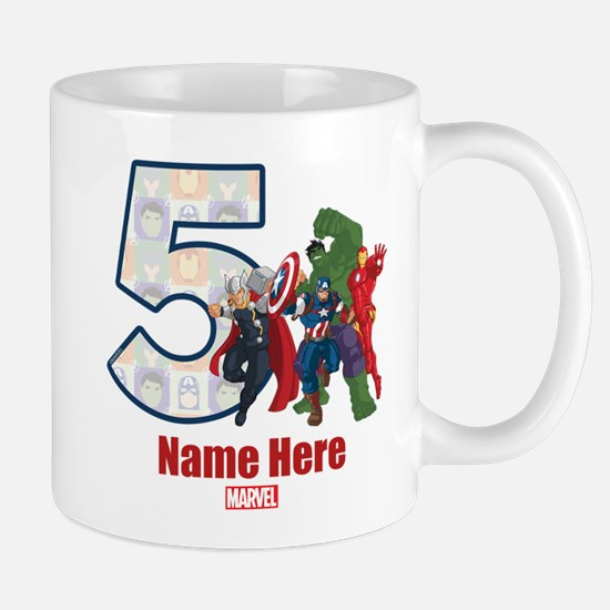 Personalized Avengers Birthday Age 5 Mug