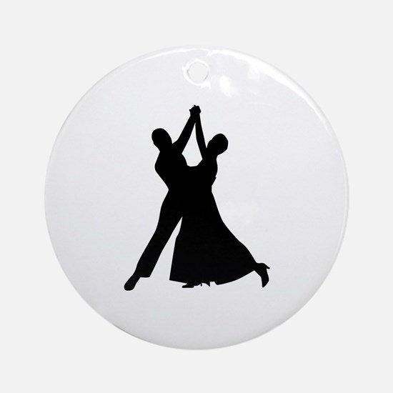 Standard dancing Round Ornament