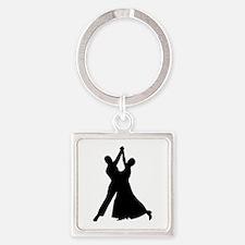 Standard dancing Square Keychain