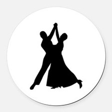 Standard dancing Round Car Magnet
